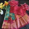 Picture of Ethnic Saree with Ruffle Readymade Blouse