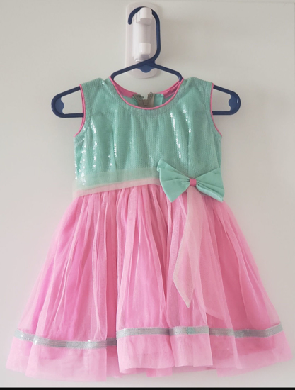 Picture of Sea Green & Pink Frock (6 Months - 2 Yrs)