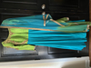 Picture of Green and blue combo anarkali