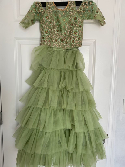 Picture of Crop top with ruffle Lehenga