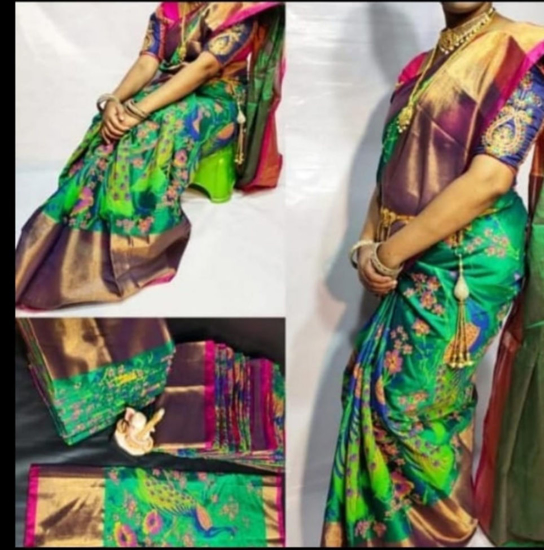 Picture of brand new Uppada tissue saree with blouse