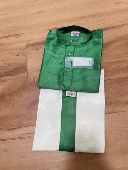 Picture of Silk dhoti/Chennai style (1-2  years)