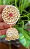 Picture of Hot selling Combo of meenakari handpainted jhumki  with  Kundan  jhumkis