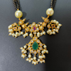Picture of Imitation Gold Guttapusalu Inspired Black Beads