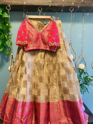Picture of Bridal Traditional Silk  and Organza Lehanga