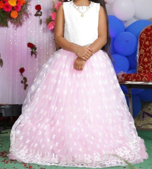 Picture of Girls Pink  Color part wear Frock 6-7Y