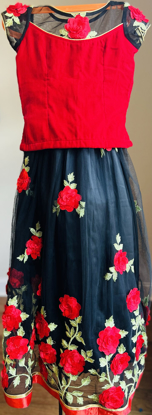 Picture of Black and Red Lehenga 6-7
