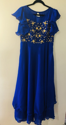 Picture of Brand new Blue color georgette long frock
