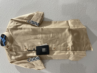 Picture of New biscuit color Kurta and pajama for boys 3-4t